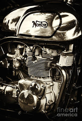 60s Photograph - Manx Norton Sepia by Tim Gainey