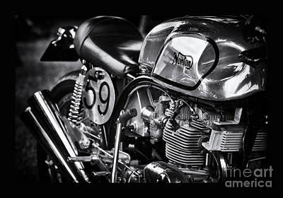 60s Photograph - Manx Norton by Tim Gainey