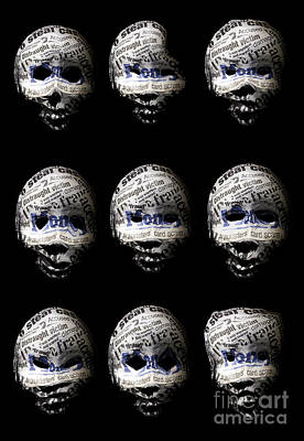 Many Faces Of Identity Fraud Art Print