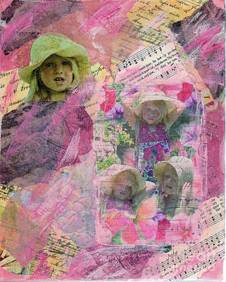 Mixed Media - Many Faces by Ruby Cross