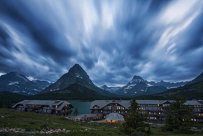 Photograph - Many Glacier Lodge by Mark Kiver