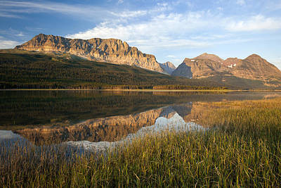 Art Print featuring the photograph Many Glacier Reflections by Jack Bell