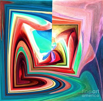 Digital Art - Many Layers Of Love Modern Abstract Art by Annie Zeno