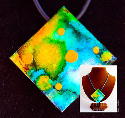 Wall Art - Painting - Many Moons Necklace by Alene Sirott-Cope