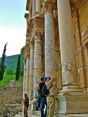 Library Of Celsus Photograph - Many Photographers At Library Of Celsus-ephesus by Ruth Hager