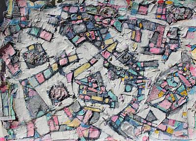 Cardboard Mixed Media - Many Steps Every Way by Hari Thomas
