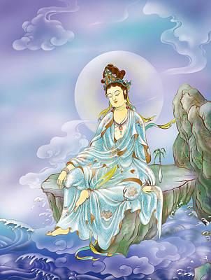 Many Treasures Avalokitesvara  Art Print