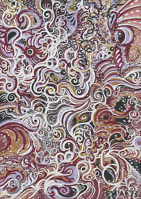 Trippy Painting - Many Ways To See by Maria Espach