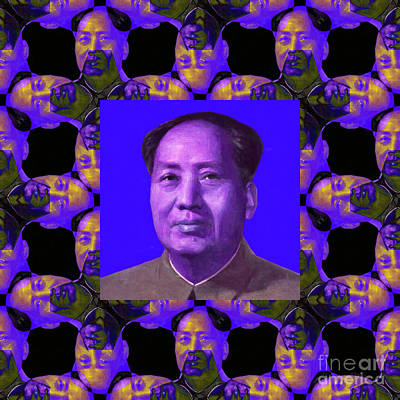 Mao Zedong Wall Art - Photograph - Mao Abstract Window 20130202m108 by Wingsdomain Art and Photography