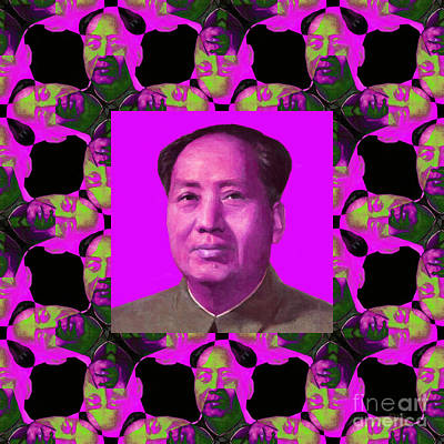 Mao Zedong Wall Art - Photograph - Mao Abstract Window 20130202m68 by Wingsdomain Art and Photography