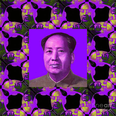 Mao Zedong Wall Art - Photograph - Mao Abstract Window 20130202m88 by Wingsdomain Art and Photography