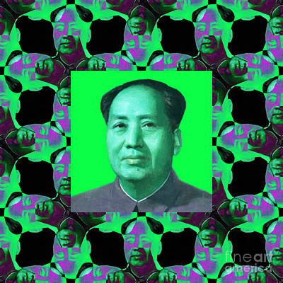 Mao Zedong Wall Art - Photograph - Mao Abstract Window 20130202p135 by Wingsdomain Art and Photography