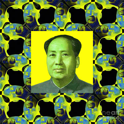 Mao Zedong Wall Art - Photograph - Mao Abstract Window 20130202p60 by Wingsdomain Art and Photography
