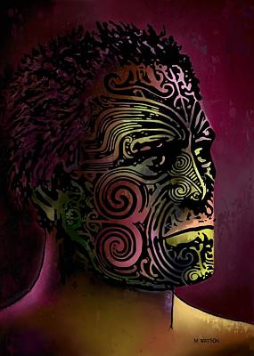 Digital Art - Maori Warrior - 5 by Marlene Watson