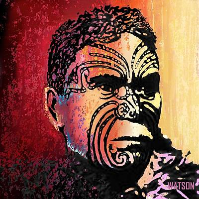 Digital Art - Maori Warrior - 3 by Marlene Watson
