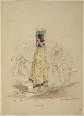 Cuthbert Photograph - Maori Woman Sketched By Artist by British Library