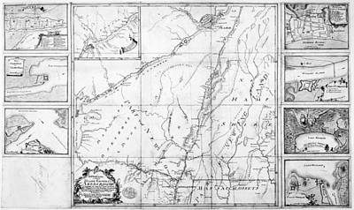 Montreal Painting - Map French And Indian War by Granger