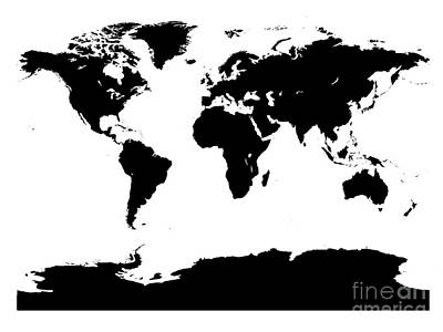 Digital Art - Map In Black And White by Jackie Farnsworth