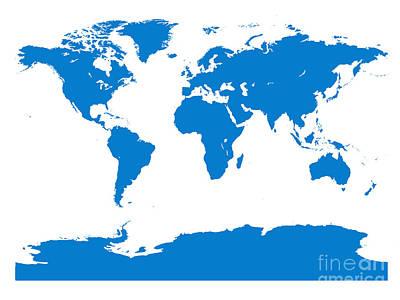 Digital Art - Map In Blue by Jackie Farnsworth