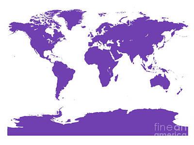 Digital Art - Map In Purple by Jackie Farnsworth