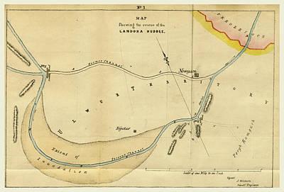 Map Landoha Nuddee, Of 1833 Art Print