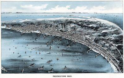 Cape Cod Harbors Painting - Map Massachusetts, C1910 by Granger