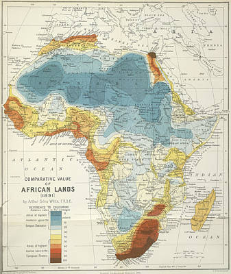 Cartography Photograph - Map Of Africa by British Library