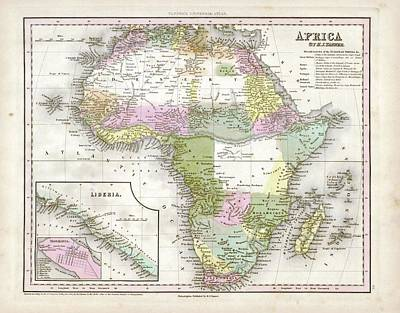 Saint Hope Photograph - Map Of Africa by Library Of Congress, Geography And Map Division