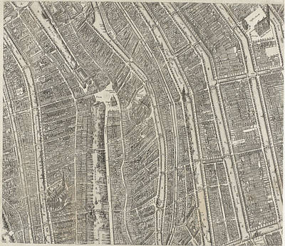 Map Of Amsterdam Middle Leaves, 1625 Art Print