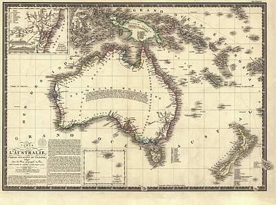 Map Of Australia Art Print by Library Of Congress, Geography And Map Division