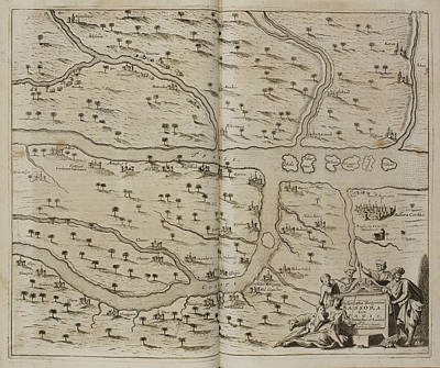 Dapper Photograph - Map Of Basra (al Basrah) In The 17th Cent by British Library
