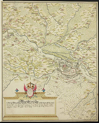 Map Of Belgrade During The Siege Of 1693 Art Print by British Library
