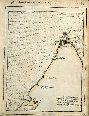 Drake Photograph - Map Of Cape Fortunate by British Library
