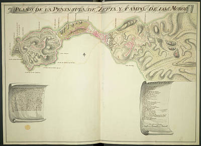Cartography Photograph - Map Of Ceuta by British Library