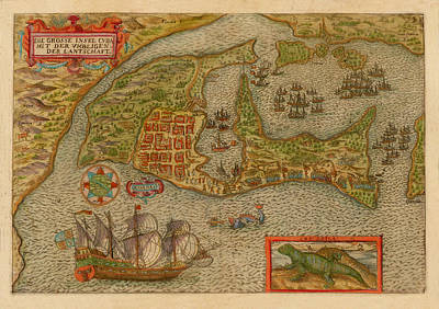 Grimm Fairy Tales - Map of Cuba 1596 by Andrew Fare