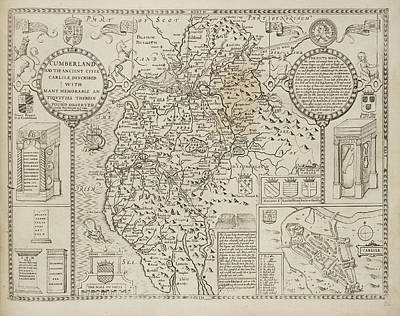 Cumberland Photograph - Map Of Cumberland by British Library
