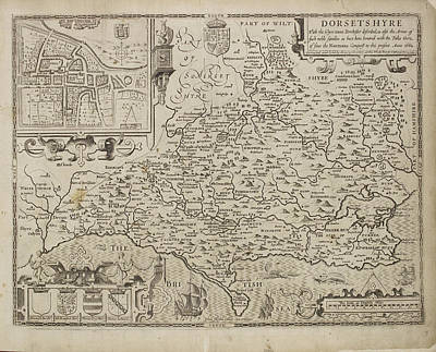Map Of Dorsetshyre Art Print by British Library