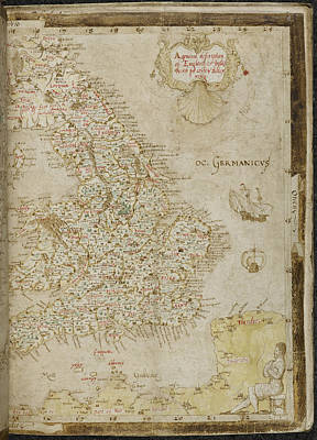 Laurence Photograph - Map Of England by British Library