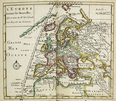 Map Of Europe Art Print by British Library