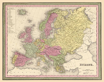 Antique Map Digital Art - Map Of Europe by Gary Grayson