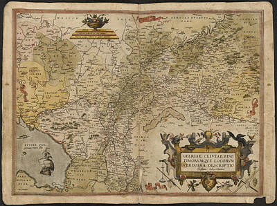 Map Of Gelderland And Cleves Art Print by British Library