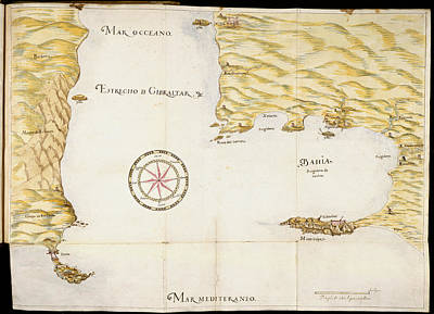 Luis Photograph - Map Of Gibraltar by British Library