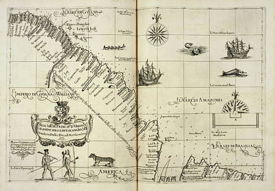 Cartography Photograph - Map Of Il Mari Di Amazones by British Library
