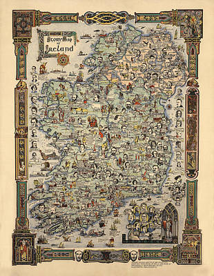 Personalized Name License Plates - Map of Ireland by Andrew Fare