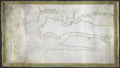 Chesapeake Bay Photograph - Map Of James And York Rivers by British Library