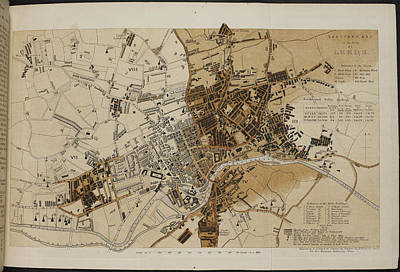 Leeds Photograph - Map Of Leeds by British Library