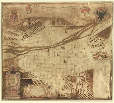 Map Of Lima Art Print by Library Of Congress, Geography And Map Division