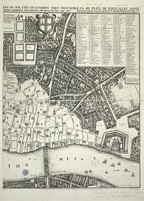 Tower Of London Photograph - Map Of London by British Library