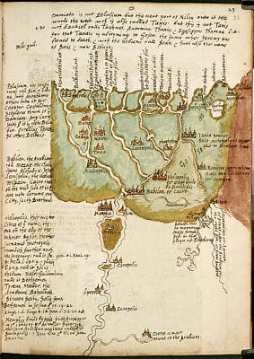 Cartography Photograph - Map Of Lower Egypt by British Library
