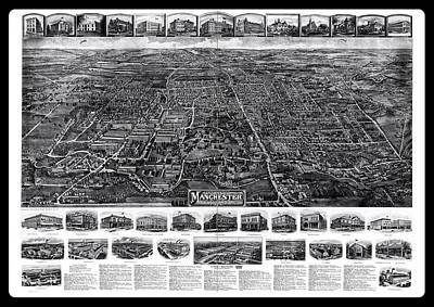 Photograph - Antique Map Of Manchester Connecticut 1914 by Phil Cardamone